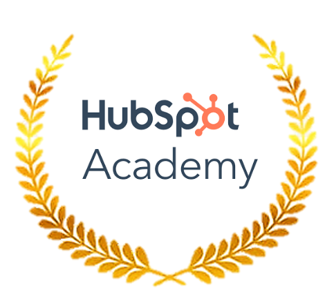 Hubspot Academy logo with leaves